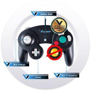 Control_Tipo_Gamecube_Negro_SNES_2_Virtrual_Zone