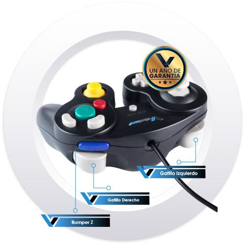 Control_Tipo_Gamecube_Negro_SNES_3_Virtrual_Zone
